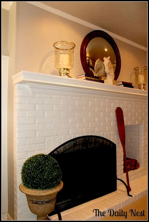 hometalk painting brick fireplace white