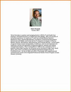 7 short bio template academic resume template With short personal bio template