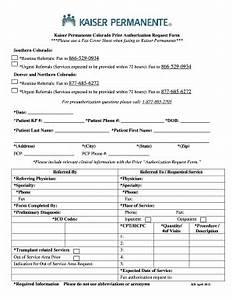 colorado kaiser permanente form fill online printable fillable blank pdffiller With fax cover sheet kaiser