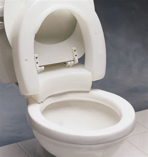 hinged elevated toilet seat toilet lift seat  users