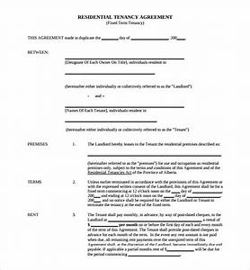 sample tenancy agreement template 9 free documents in With letting agreement template free
