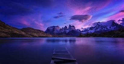 Panorama Dual Monitor Nature Landscape Water Chile