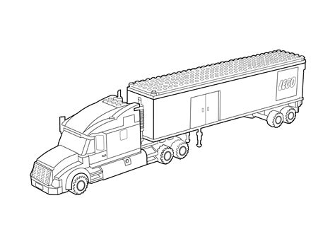 Lego Truck Coloring Page For Kids, Printable Free. Lego