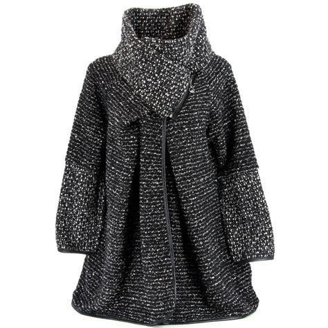 manteau cape bouillie hiver grande taille noir violetta