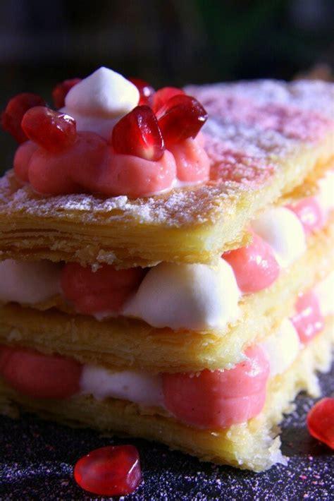 dessert de valentin millefeuille aux pralines