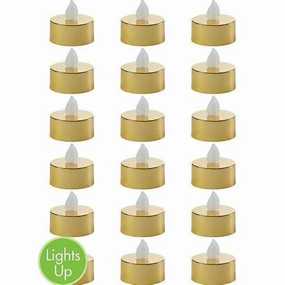 Candles Gold Flameless Metallic Led Tealight 18ct