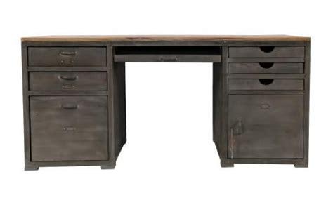 bureau loft bureau bois et métal loft