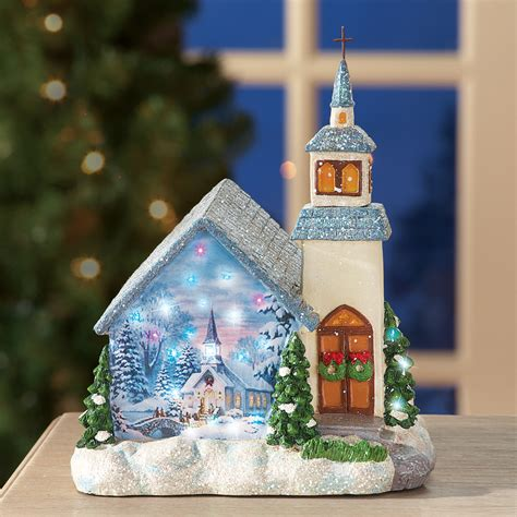 miniature color changing fiber optic lighted church