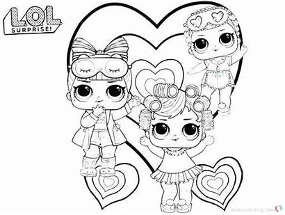 Lol Coloring Printable Dolls Unicorn Doll Omg