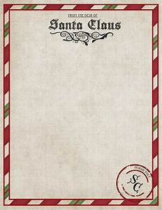 Letter from santa printable for Free santa stationary