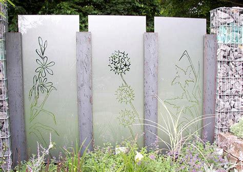 Sichtschutz Garten Ideen Glas by Sichtschutz Aus Glas Idee Und Beispiel