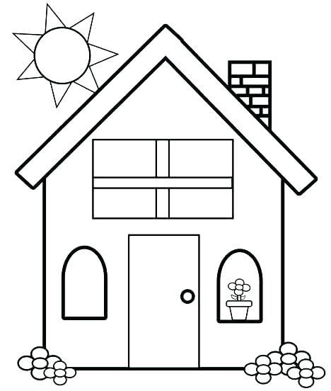 Coloring Rumah by Up House Coloring Pages At Getcolorings Free