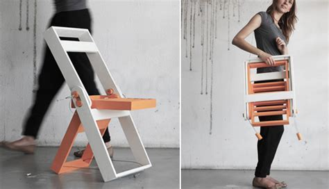 Lightweight and comfortable wooden folding chair by Pawel