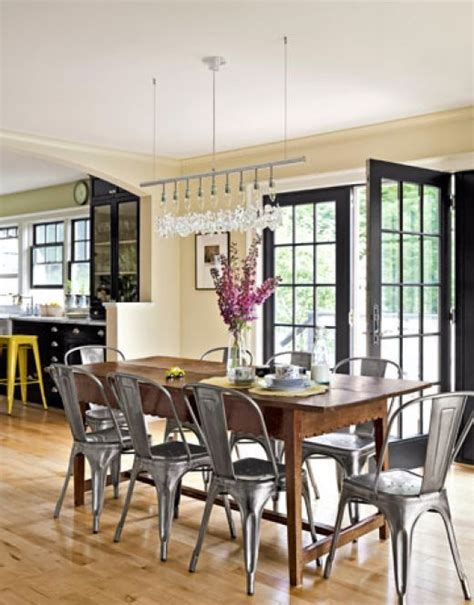 farm table with metal chairs farmhouse table with metal chairs for the home pinterest