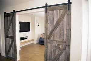 porte coulissante grange dootdadoocom idees de With porte de douche coulissante avec planche bois massif salle de bain