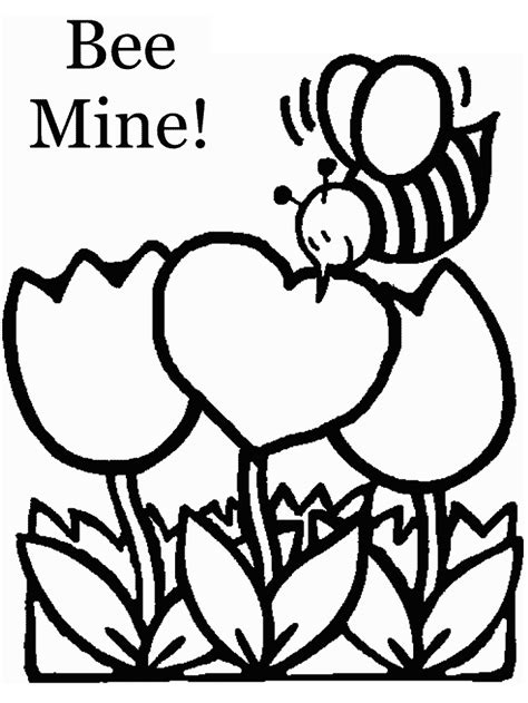 Coloring Valentines by S Day Bee Coloring Pages Marketing Plan Pat