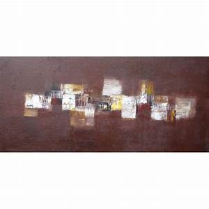 Tableau Contemporain Grand Format : tableau contemporain horizontal marron 130x60 cm suarsa ~ Teatrodelosmanantiales.com Idées de Décoration