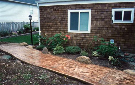 house walkway ideas simple front yard landscaping house design with various herbs flower plants and concrete walkway