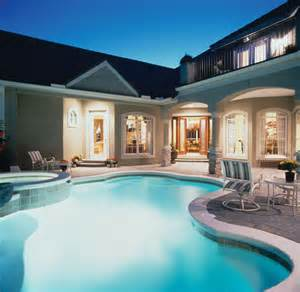 luxury home plans with pools luxury house plan pool photo plan 047d 0168 house plans and more