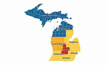 Map Michigan State Mi Parts Start Safe