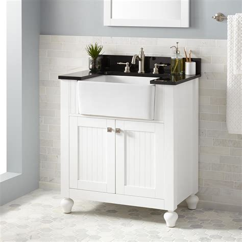 farmhouse sink and cabinet 30 quot nellie farmhouse sink vanity white bathroom