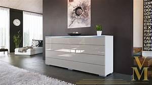 Tv Sideboard Weiß Hochglanz : angebot sideboard kommode tv board schrank pl n wei hochglanz naturt ne ebay ~ Orissabook.com Haus und Dekorationen