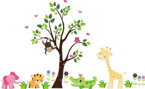 Baby Jungle Animals Wallpaper - baby jungle wallpaper gallery
