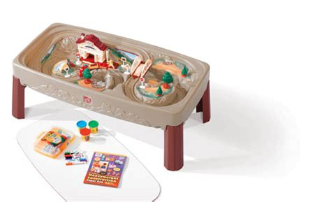 Step2 Deluxe Table by Deluxe Table With Lid Step2 Plastic Children