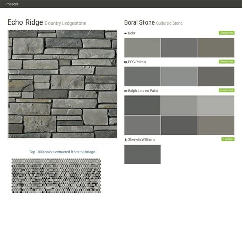 echo ridge country ledgestone cultured boral