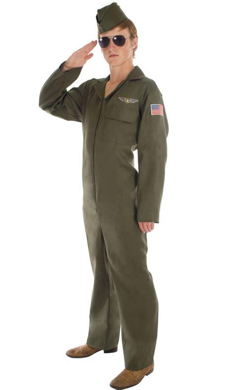 army jumpsuit aviator mens pilot jumpsuit fancy dress