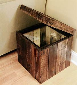 Reclaimed Wood Storage Cube Home Furniture FAS