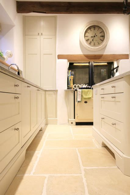 clunch farrow  ball hand painted kitchen traditional