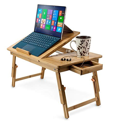iloilo aleratec bamboo adjustable laptop stand up to 15in folding bed table 11street