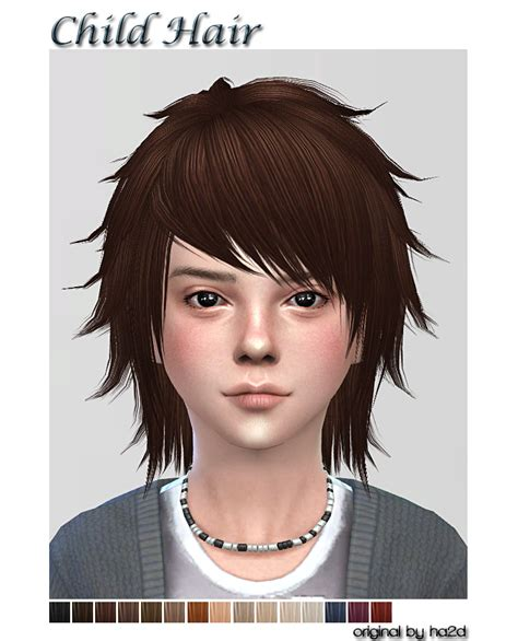 sims  ccs   hair  child  shojoangel