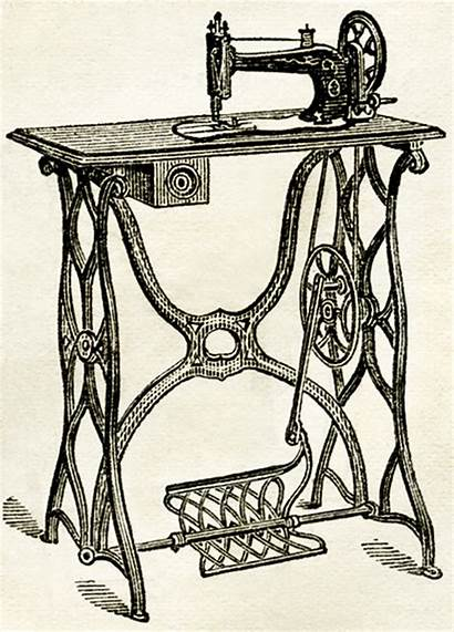 Sewing Machine Clipart Fashioned Machines Printable Clip