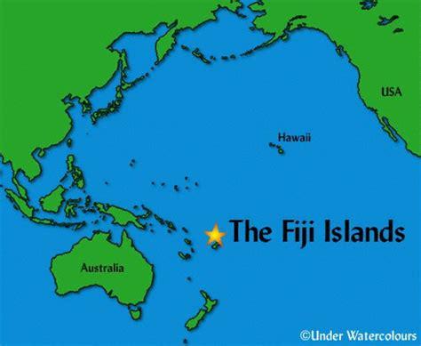 fiji geographischen karte