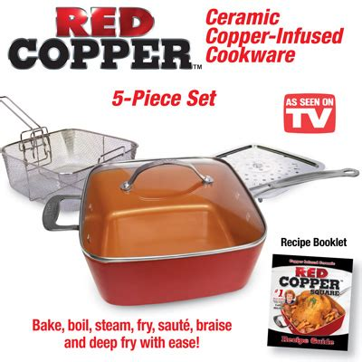 red copper cookware set  pc  collections