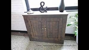 Peinture Sur Meuble : r aliser un effet rouille sur un meuble en bois youtube ~ Mglfilm.com Idées de Décoration