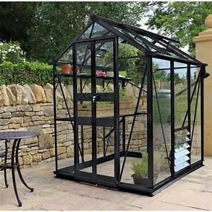 Kit Serre De Jardin : serre de jardin 2 87m en verre tremp birdlip noire eden ~ Premium-room.com Idées de Décoration