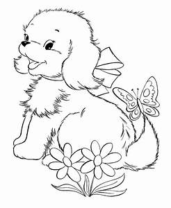 Coloring Pages Of Puppies And Kittens - AZ Coloring Pages