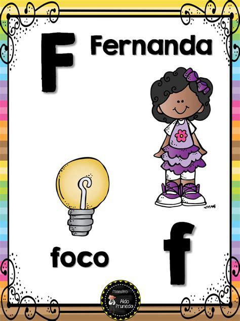 abecedario nombres propios 7 imagenes educativas