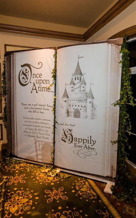 wedding backdrop fairytale castle  ceremony decor