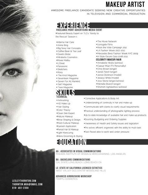 Makeup Resume Templates by 25 Best Ideas About Fashion Resume On Fashion