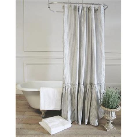 vintage ruffle shower curtain a cottage in the city