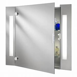 searchlight 6560 illuminated bathroom cabinet mirror With armoire miroir salle de bain lumineux
