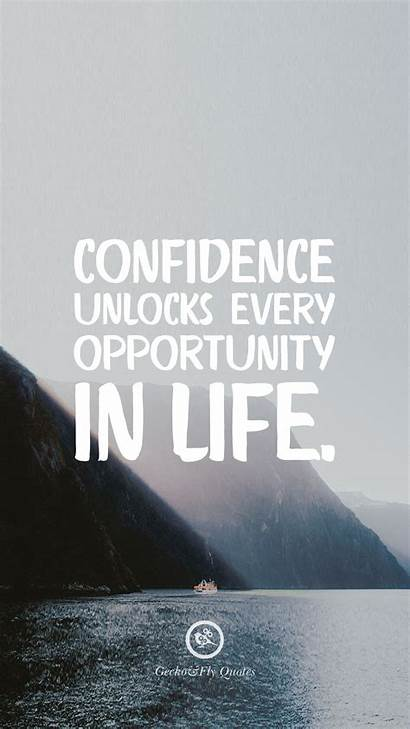 Wallpapers Motivational Quotes Inspirational Iphone Confidence Opportunity