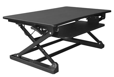 xec fit adjustable height convertible sit to stand up desk laptop desktop riser ebay