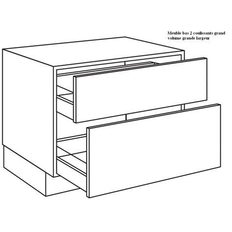 grand meuble de cuisine casserolier de cuisine 2 coulissants grand volume largeur