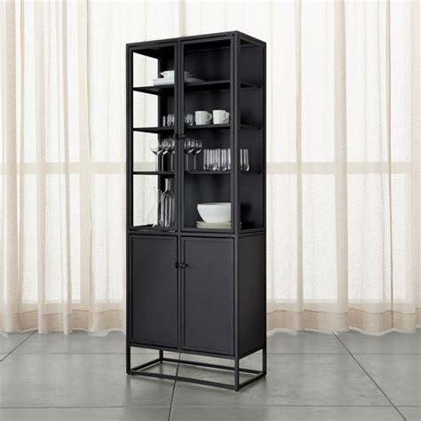 casement tall black cabinet reviews crate  barrel