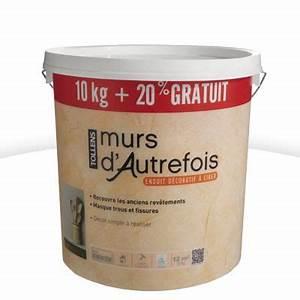 enduit decoratif murs d39autrefois 10 kg 20 tollens With peinture murs d autrefois